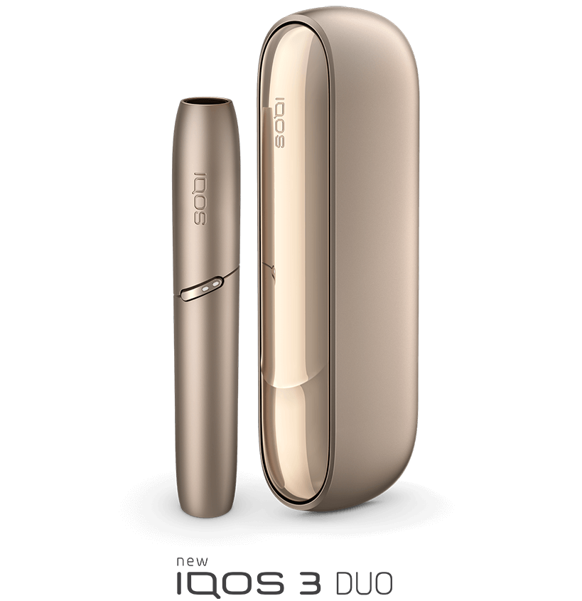 IQOS 3 DUO device in gold