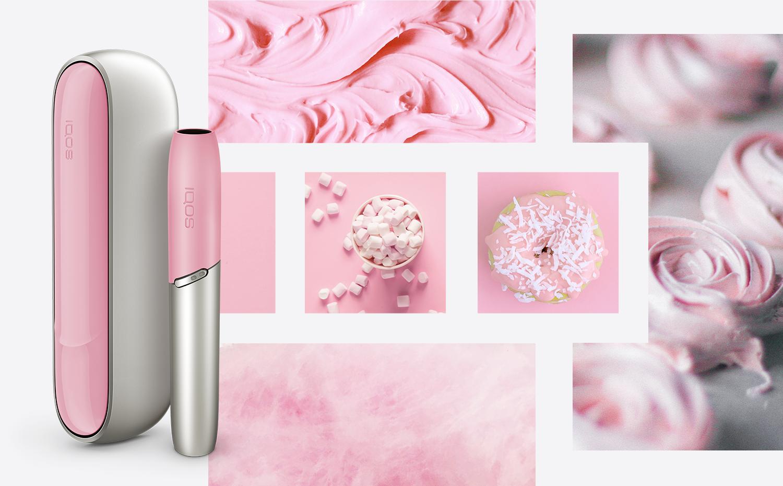Рожева бокова панель і ковпачок на айкос дуо